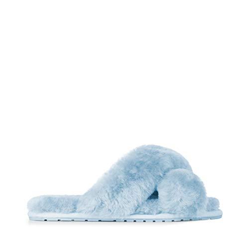 EMU Australia Womens Slippers Mayberry Sheepskin Slipper Size 8 Baby Blue