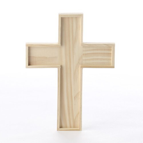 Unfinished Wooden Crosses for Painting and Crafting | 6 Crosses -