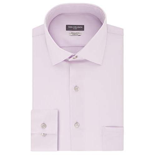 Van Heusen Mens Dress Shirt Regular Fit Flex Collar Stretch Solid