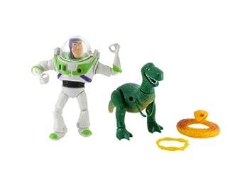 Cartoon Toy Story Rex el dinosaurio verde y Buzz Lightyear figura  Amazon.es   Juguetes y juegos 8648d5d4d98