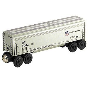 - Whittle Shortline Railroad - Union Pacific UP Covered Hopper wooden train - 100353