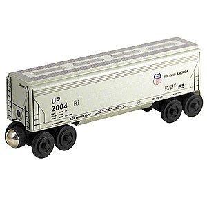 Whittle Shortline Railroad - Union Pacific UP Covered Hopper wooden train - 100353 - Railroad Hopper Car