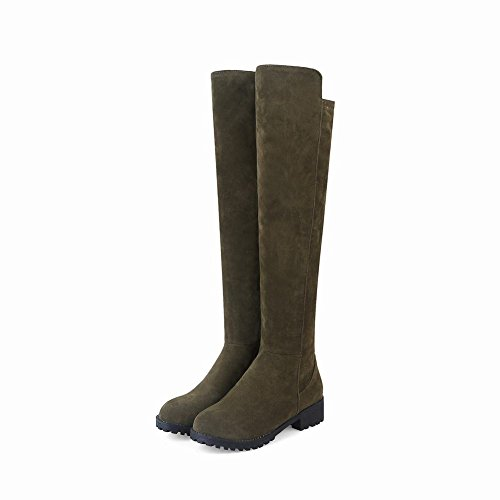Army Carolbar The Green Women's Over Mid Heel Boots Sexy Knee x1A8qwr1gn
