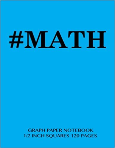 Math Graph Paper Notebook  Inch Squares  Pages Notebook