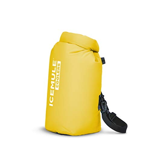 ICEMULE Classic Insulated Mini Backpack Cooler Bag - Hands-Free, Collapsible, and Waterproof, This Highly Portable Cooler is an Ideal Sling Backpack for Hiking, The Beach, Picnics and Camping-Sunshine