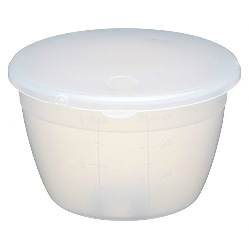1 Pint Plastic Pudding Basin & Lid 570ml (Pack of 4) Kitchen Craft