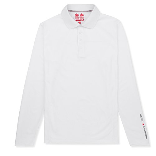 Musto Evolution Sunblock Long Sleeve Polo 2018 - White XL