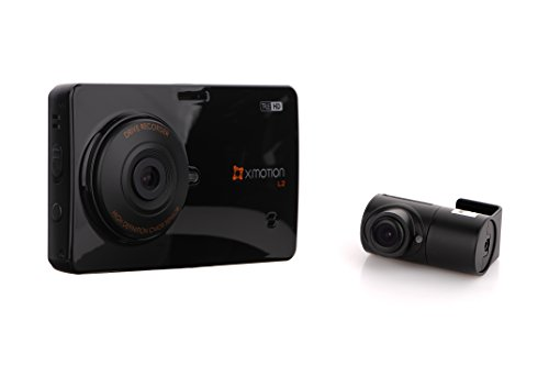 "XMOTION L2: 2-Channel True HD 3.5"" Touch Screen Front (720p) and Rear (720p) Premium In-Car Dashcam(Black Box) 16GB Storage"