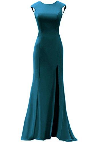 Tintenblau Lang Rundkragen Abendkleider Promkleid Festkleid Ivydressing Rueckenfrei Schlitz Damen Chiffon wCWUqzgpA