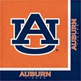 Club Pack of 240 NCAA Auburn Tigers 2-Ply Tailgating Party Lunch Napkins