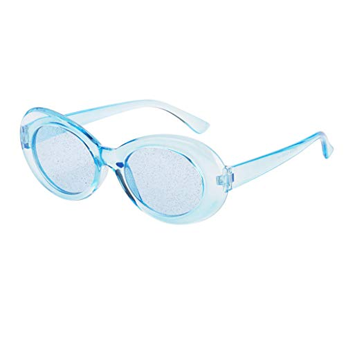 Transparentes Ovales Soleil De Protection Lunettes Bleu Perfeclan Rétro wY87qIxYB
