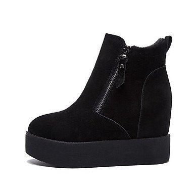 Confort Lvyuan Printemps Cuir Talons Black Nappa De Féminins Chaussures ggx Vachette Décontracté q6rXwxYB6