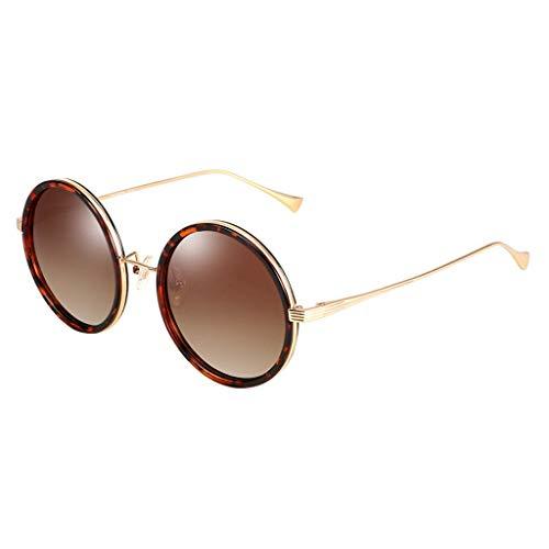 Conduite Ronde métal Soleil Monture de Des polarisé à de de en rétro lunettes soleil Lunettes Sport Femme Miroir coloré C41wq