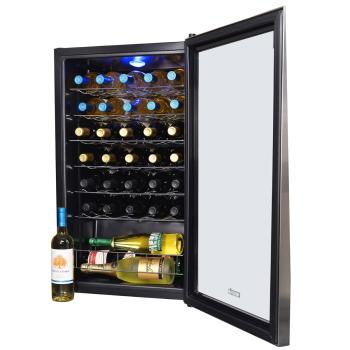 NewAir AWC-330E 33 Bottle Compressor Wine Cooler - Inside