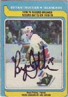 Bryan Trottier New York Islanders 1979 Opee Chee Autographed Card - card in bad condition, but signature is nice. This item comes with a certificate of authenticity from Autograph-Sports. Autographed
