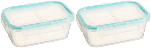 Snapware 2-Pack Airtight 2-Cup Rectangle Containers, Plastic ()