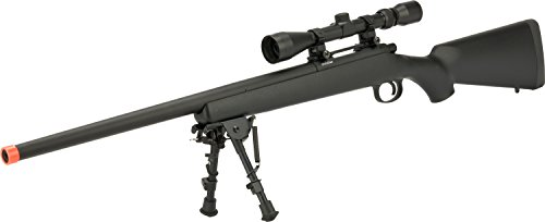 Evike - CYMA VSR-10 Bolt Action Airsoft Sniper Rifle w/Scope Rail (400~450 FPS) - Black