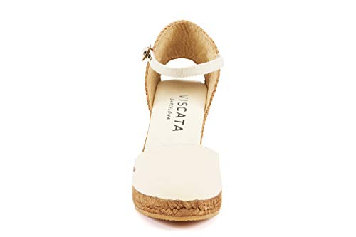 Ankle Classic Marfil Espadrilles Made In Viscata With strap Spain Toe inch Heel Closed Satuna 3 TwBgaHqR