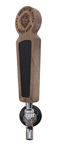 Beer taps handle Set of 4, Kegerator Beer Tap Handles with chalkboard, Unique Wooden Beer Taps 8.3'' Length, Premium Craft Beer, Made of natural Walnut Wood … by Sweetheart (Image #2)