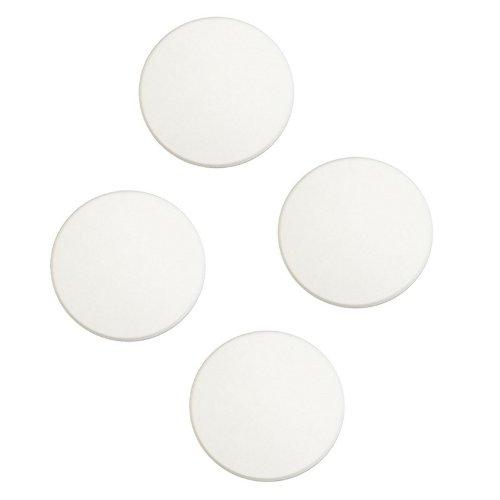 "3"" White Vinyl Door Knob Wall Shield Protector, 4 Pcs."