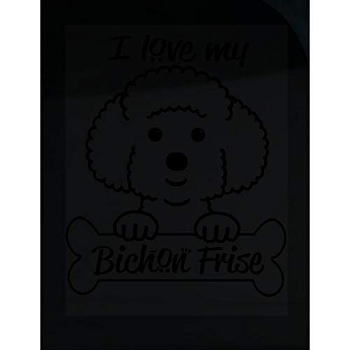 - Peyton Winks I Love My Bichon Frise - Cute Dog Lover - Transparent Sticker