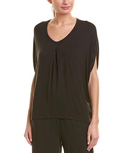 Dkny Pajama Top (Donna Karan Womens Pajama Top, L, Black)