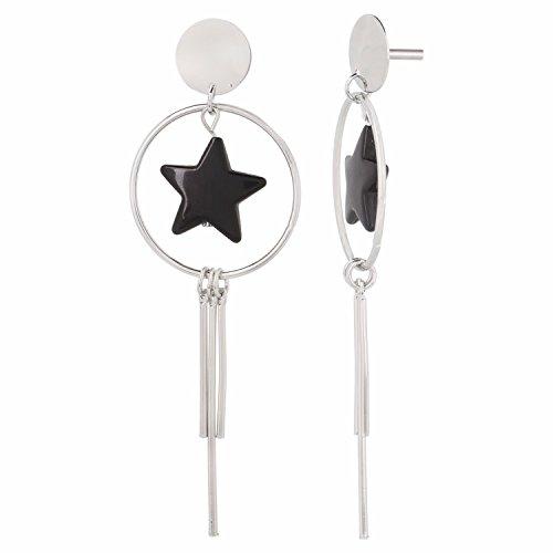 Efulgenz Gold/Silver Long Tassel Dangle Drop Statement Earrings for Women Girls