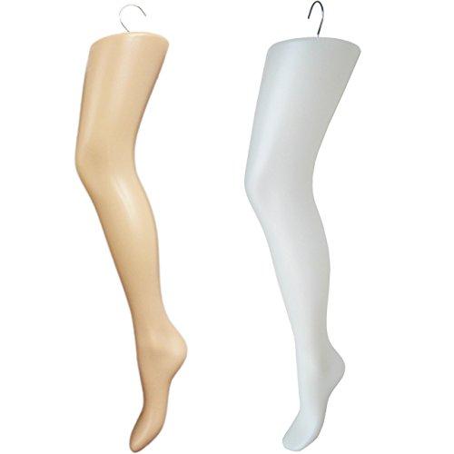 519675e066c Amazon.com  Plastic Women s Tall Thigh-High Hosiery Leg Display Form Hanger  (White)  Arts