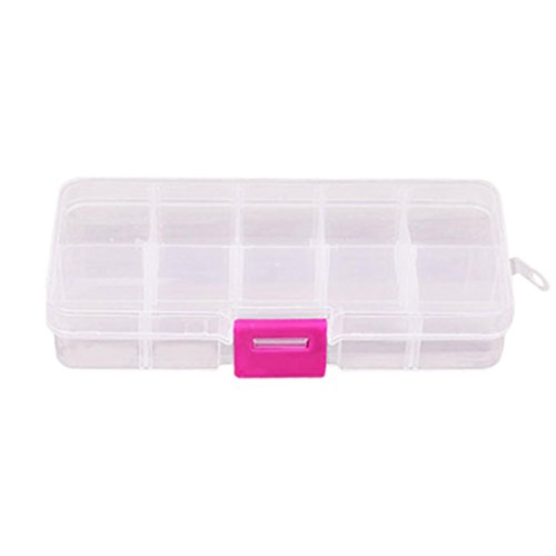 YJYdada 10 Grids Adjustable Jewelry Beads Pills Nail Art tips Storage Box Case (Bench Girls Jacket)