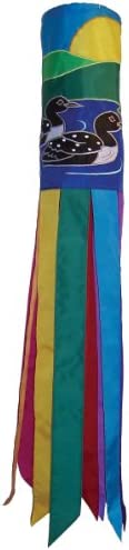 In The Breeze 40-Inch Pair of Loons Applique Windsock