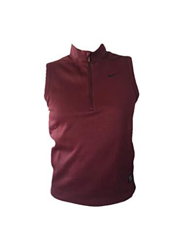 Nike Men's Golf 1/2 Zip Cover up Vest (Maroon/Black, Medium)