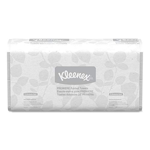 - Kleenex 13253 Premiere Folded Towels, 7 4/5 x 12 2/5, White, 120 per Pack (Case of 25 Packs)