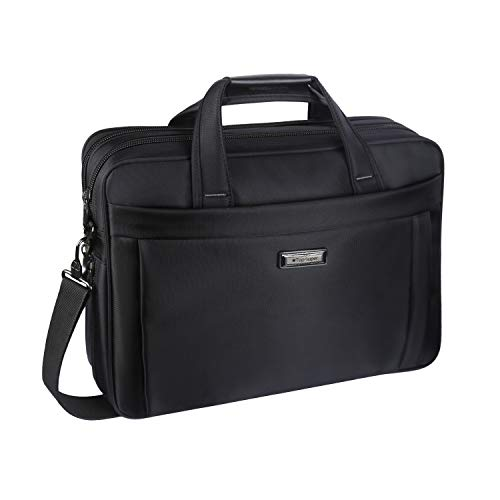 Laptop Bag 15.6 inch, Laptop Briefcase for Men Women, Business Portable Carrying Case Messenger Shoulder Bag Fit for 15 15.6 Inch Laptop Tablet Attache Compatible with ()
