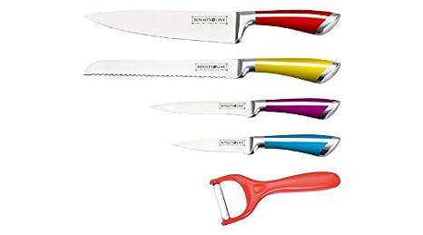 Compra 5 piezas juego de cuchillos de acero inoxidable ...