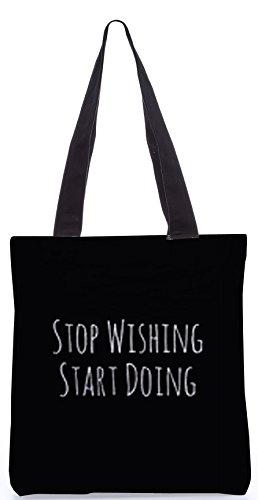 Snoogg tun beginnen 13.5 x 15 Zoll-Shopping-Dienstprogramm-Einkaufstasche aus Polyester-Segeltuch gemacht