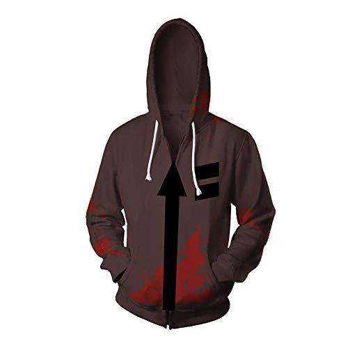 (Mikucos Angels of Death Jacket Coat Hooded Hoodie Sweater Costume Cosplay Zack)