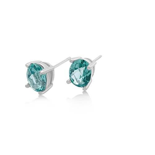 Mint Green Spinel Stud Earrings - 2 CT Total, Claw Set in 925 Sterling Silver Post