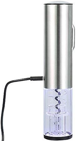 Cavatappi Apribottiglie Sacacorchos Sacacorchos Vinosacacorchos De Vino Eléctrico Recargable USB Sacacorchos Kit De Sacacorchos De Vino Automático Inalámbrico con Cuchillo De Aluminio Accesorios De C