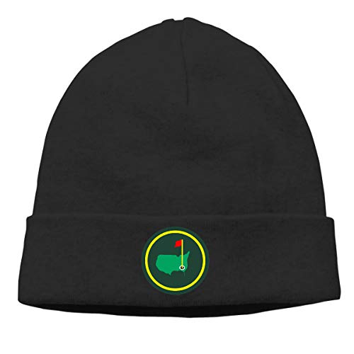 Moore Me Men's Winter Warm Beanie Hats Green Jacket Patch Slouchy Beanie for - Masters National Golf Augusta Club