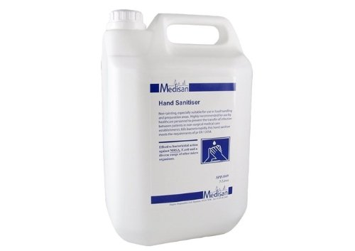 Medisan Hand Sanitiser (5 litre) Alcohol Based Effective against MRSA & Swine.