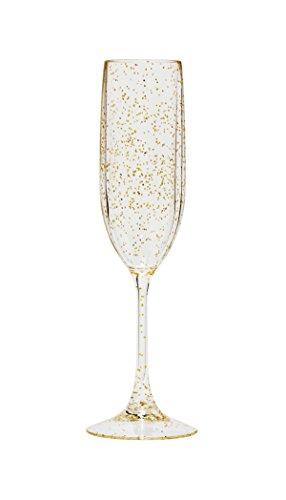 Gold Champagne Flute (Diligence4us TRS-0705G Tritan Sparkle Champagne Flute, Set of 4, Gold)