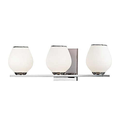 Hudson Valley Lighting Verona 3-Light Vanity Light - Polished Chrome Finish with Opal Etched Glass Shade - Verona 3 Light Vanity