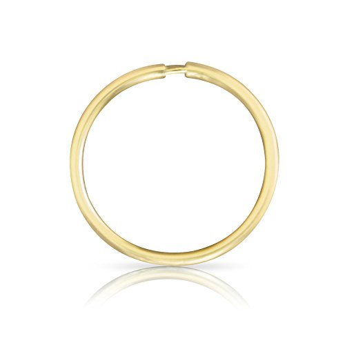 ONDAISY 1PCS 20G 8mm 14k Solid Real Gold Segment Septum Lip Round Hoop Tragus Helix Cartilage Daith Inner Outer Conch Ring Ear Piercing Earring