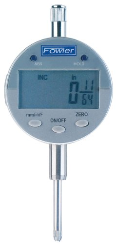 """Fowler 1""""/25mm/64ths  Indi-X Blue Electronic Indicator, Full Warranty, Direct Inch/Metric/Fraction conversion, 54-520-260-0 ()"""