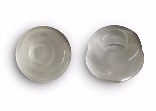 6-Pack Small Wall Door Stops, Self adhesive Clear Door Knob Bumpers. 0.5 inch thick - 0.9 inch diameter.