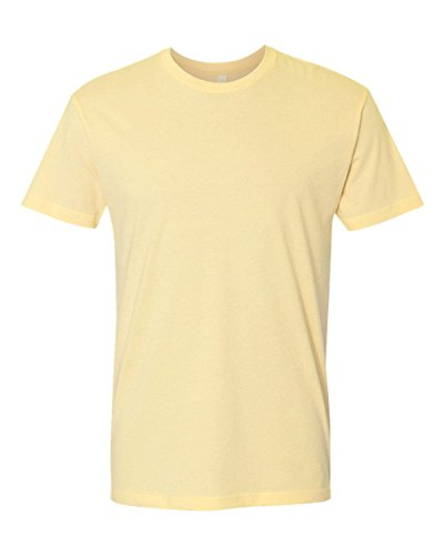Next Level Premium Fit Extreme Soft Rib Knit Jersey T-Shirt, Banana Cream, Large (Cream Next Banana Level)