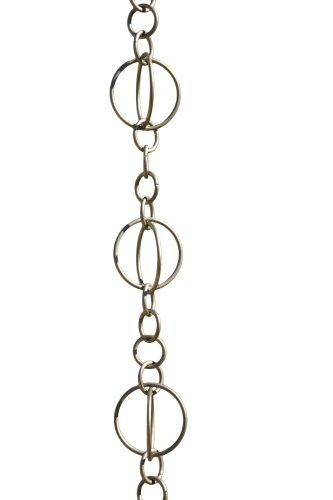 Patina Products R263  Brushed Stainless Life Circles Rain Chain Full Length by Patina (Image #1)