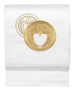 成り立つ早熟キロメートル踊り衣裳 刺繍名古屋帯 山印 白?金糸 レディース