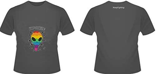 FGGG LGBT Camiseta Sencillo Camiseta Algodón Peinado Etiqueta Tramo De Colores Corriendo Suelto Ajuste Unisex: Amazon.es: Deportes y aire libre