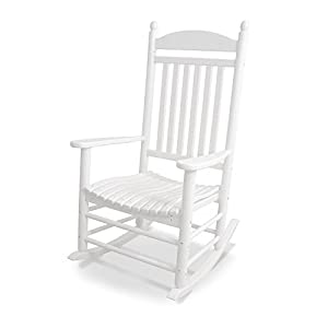 POLYWOOD Outdoor Furniture South Beach 40 Inch Dining Table, White Recycled  Plastic Materials Part 62